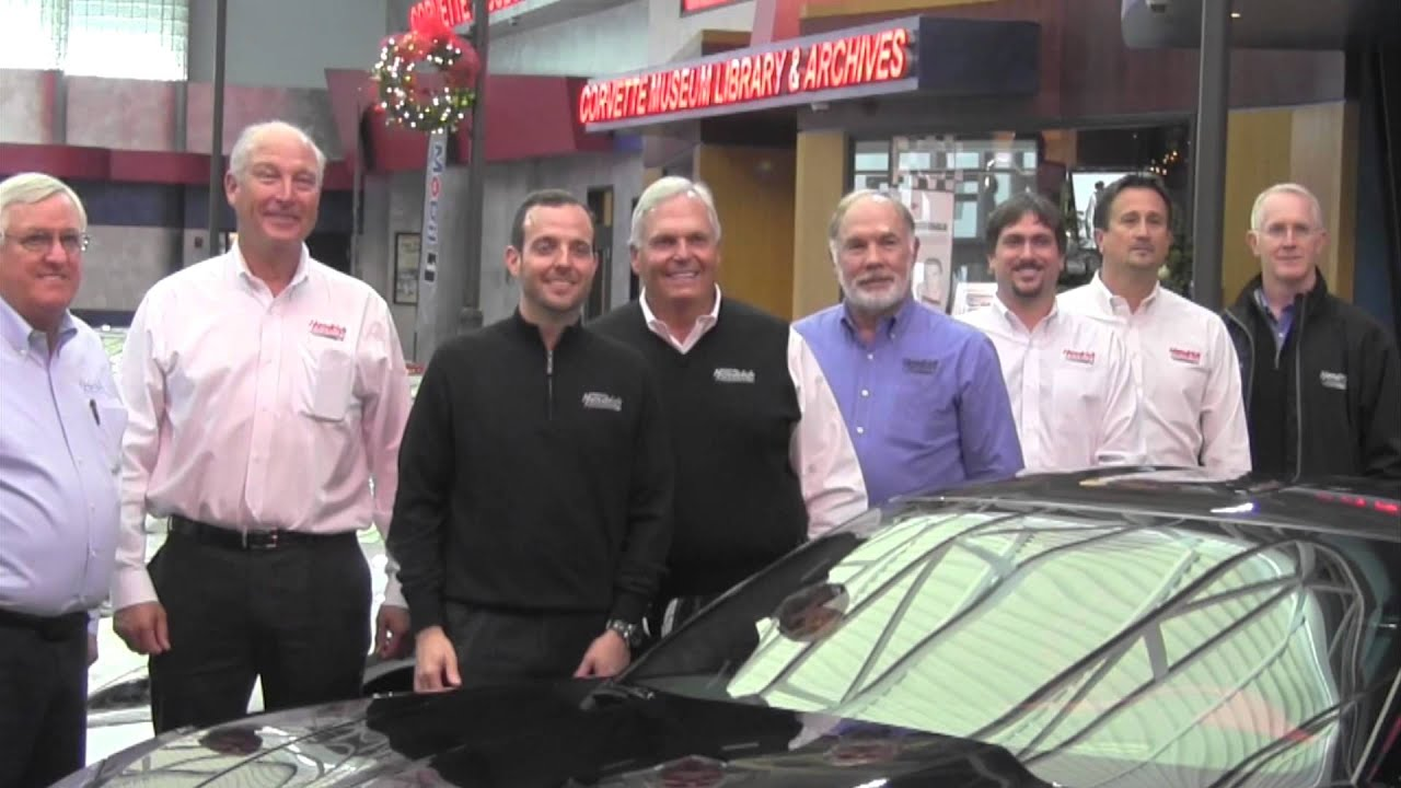 Rick Hendrick Picks Up His Vin 1 Z06 At The National