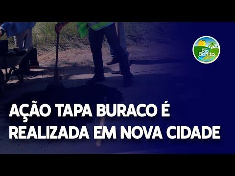 AÇÃO TAPA BURACO É REALIZADA EM NOVA CIDADE