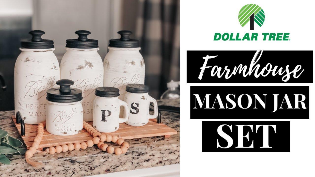 6 Diy Farmhouse Mason Jar Canister Set Diy Ways