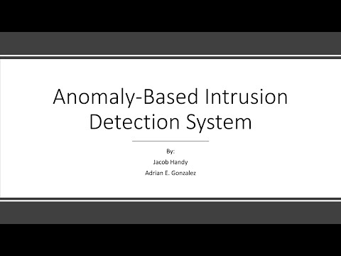 Anomaly Based Intrusion Detection System