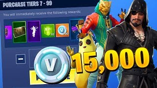 KAUFEN ALLE 100 TIERS..!! SAISON 8 Battle Pass ALLE UNLOCKED!! - Fortnite Battle Royale