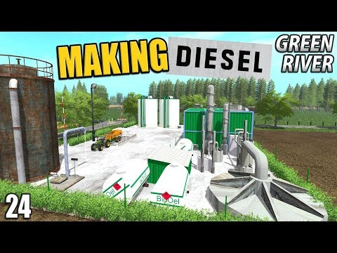 MAKING BIO-DIESEL  | Farming Simulator 17 | GreenRiver - Epi