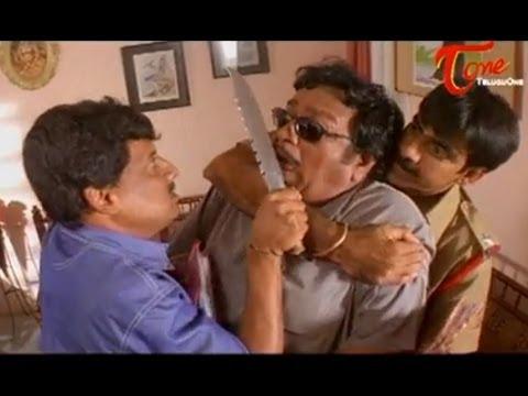 Khadgam Comedy Scene | Ravi Teja Kidnaps Giri Babu To Narrate A Story - NavvulaTV