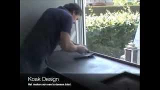 Betonnen aanrechtblad maken ter plaatse gestort door Koak Design, DIY Concrete countertop