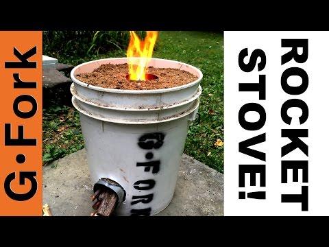 DIY Rocket Stove In A 5 Gal Bucket - GardenFork