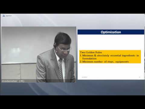 OPTIMIZATION TECHNIQUE IN PHARMACEUTICAL FORMULATION AND PROCESS Dr K N Gujar