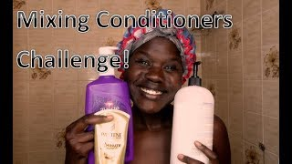 MIXING CONDITIONERS CHALLENGE ON 4C HAIR