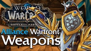 Warfront Weapons: Alliance - In Game Preview | World of Warcraft