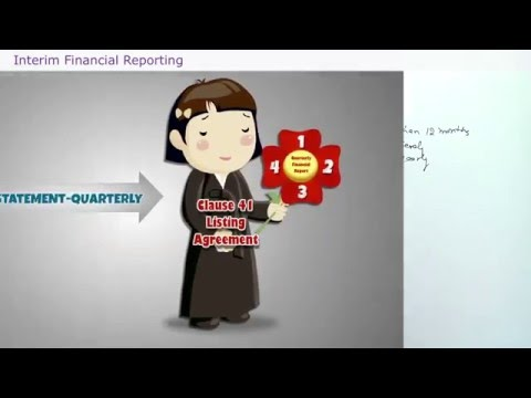 FINANCIAL REPORTING - INTERIM FINANCIAL REPORTING