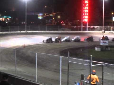 Wingless Micros Main Event @ Delta Speedway Turkey Bowl 2012
