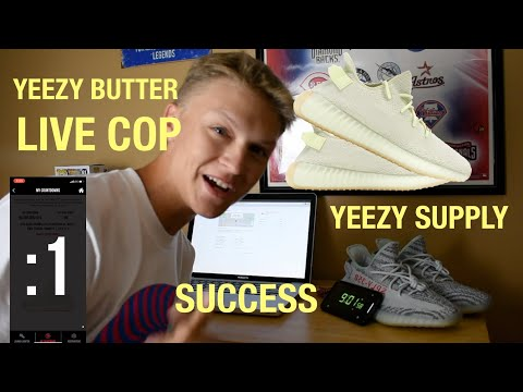 Yeezy 350 V2 Butter Live Cop!! Success on YEEZY SUPPLY!!