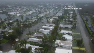 Drone captures aftermath of Hurricane Irma in Naples, Florida