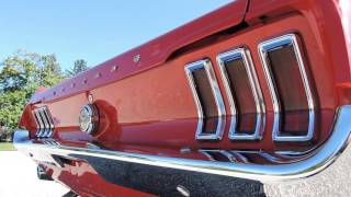 1967 Ford Mustang Convertible red for sale at www coyoteclassics com