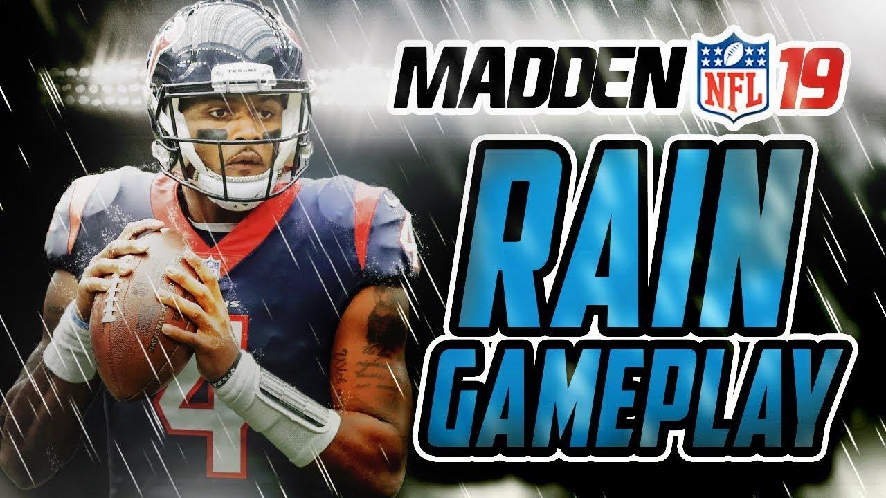 Madden NFL 19 Gameplay - RAIN GAME!!! Texans Vs Seahawks