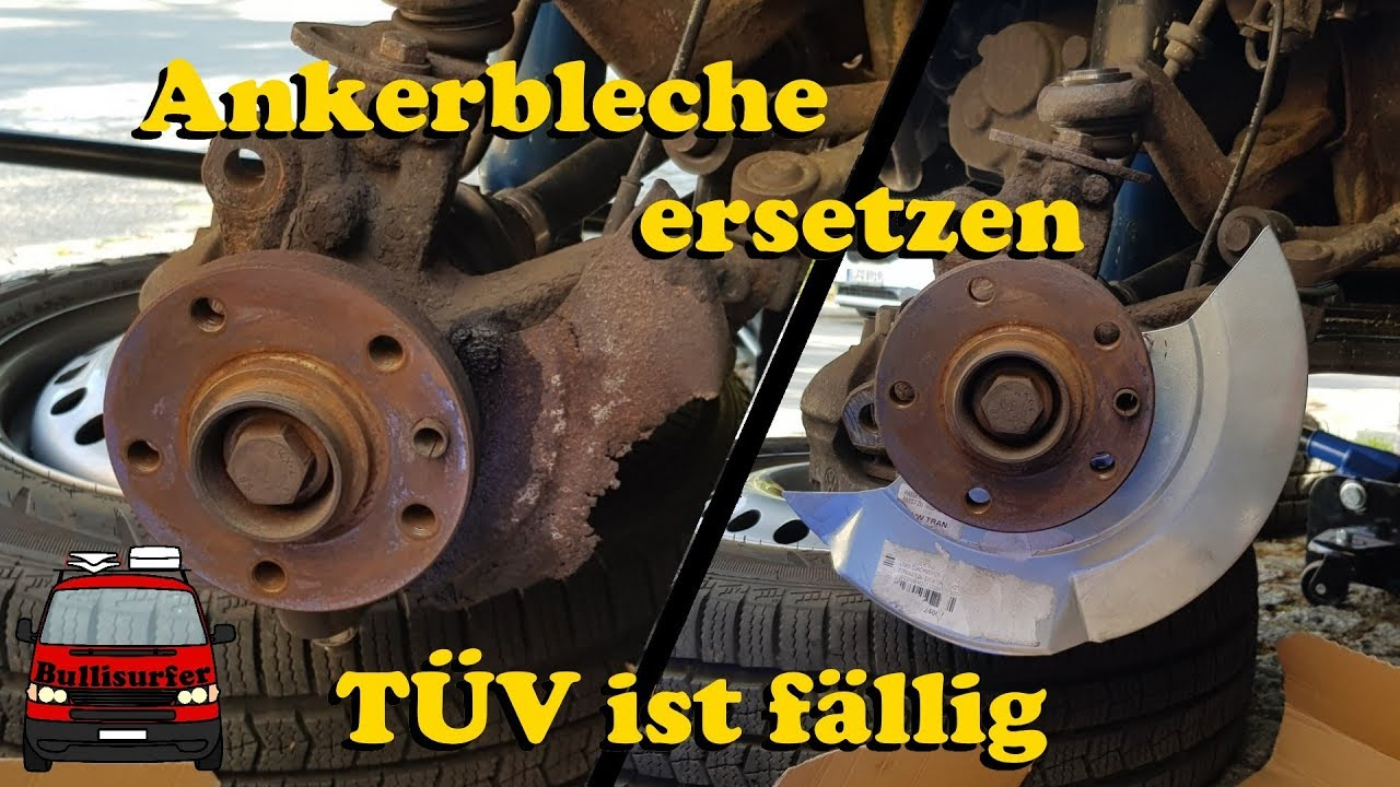 BREMSSCHEIBEN ANKERBLECH SPRITZBLECH VORNE VW TRANSPORTER BUS T4 BREMSBELÄGE