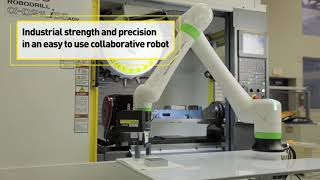 Collaborative Machine Loading with a FANUC Cobot