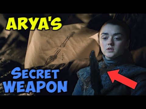 The Secret Of Arya's Dragonglass Weapon! ⚔️ SEASON 8 🛡