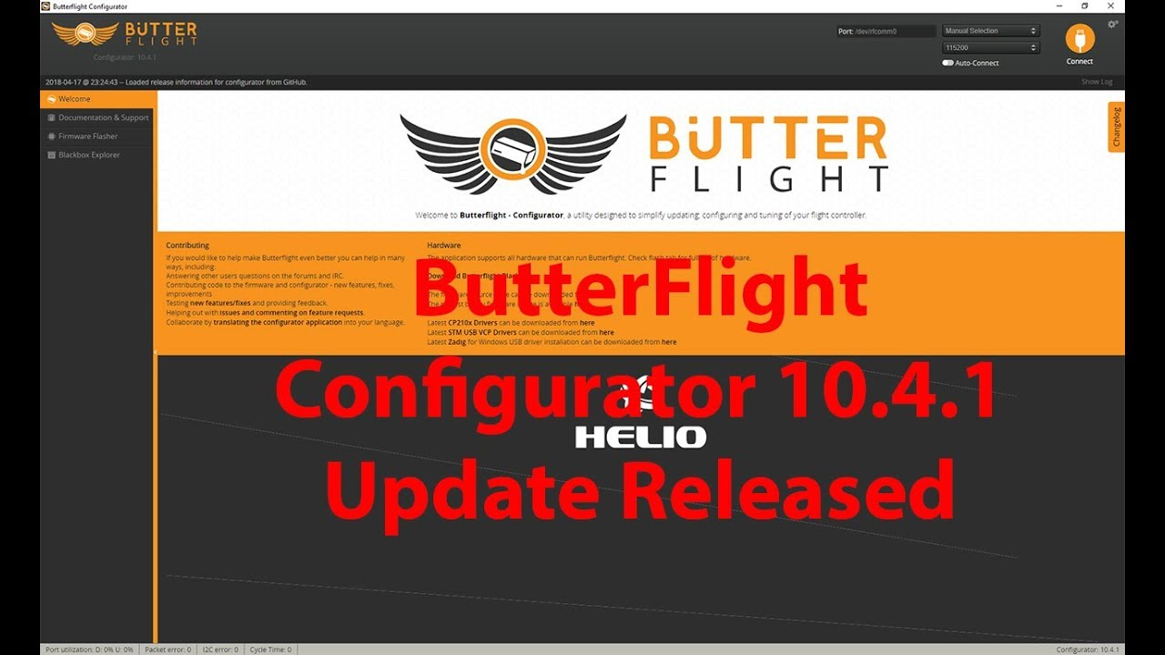 ButterFlight Configurator 10 4 1 Released! Whats changed?
