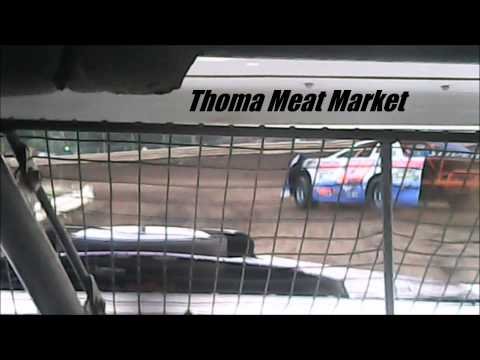 Stock Car Heat Race #2 Mercer Raceway Park 6/21/14 IN-CAR