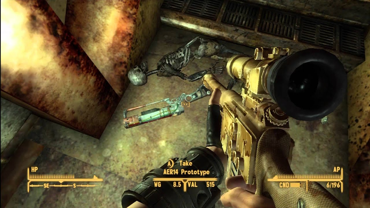 aer14 prototype unique laser rifle location guide fallout new
