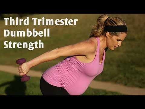 Third Trimester Prenatal Dumbbell Strength Workout-But Good For All Trimesters!