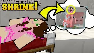 Minecraft: SHRINKING INSIDE A BABY PIG!!! - Asleep 2 - Custom Map [1]