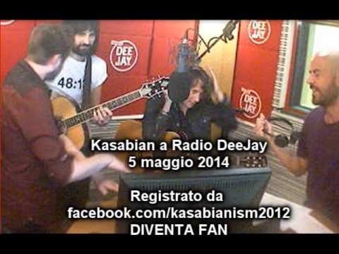 Kasabian interview+live on Tropical Pizza, Radio DeeJay Italy 05.05.2014