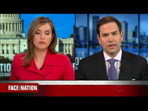 On Face the Nation, Rubio Discusses North Korea, China's ZTE, Venezuela