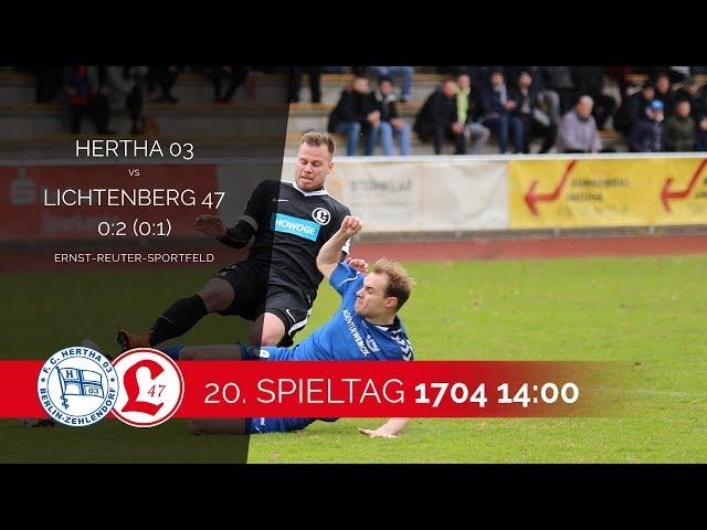 Oberligateam: Spielszenen Hertha 03 Zehlendorf – Lichtenberg 47
