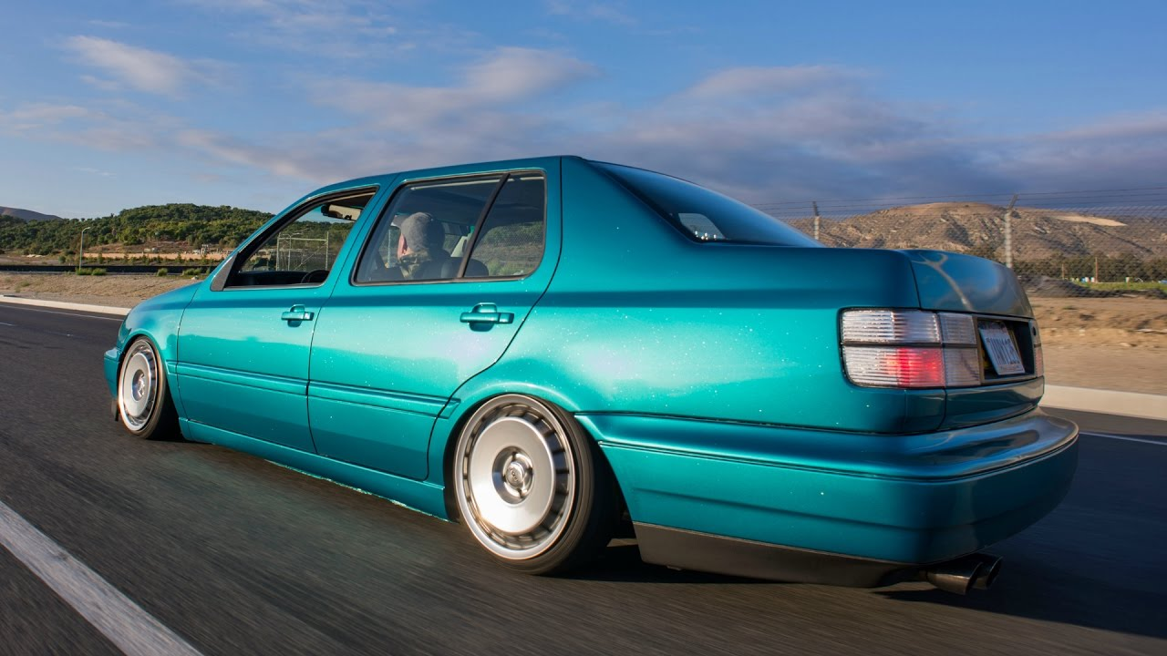 Slammed 1994 vw mk3 jetta review air ride notched frame so euro
