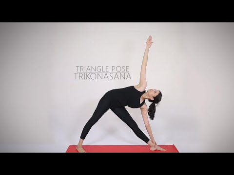 How to do Trikonasana Triangle Pose