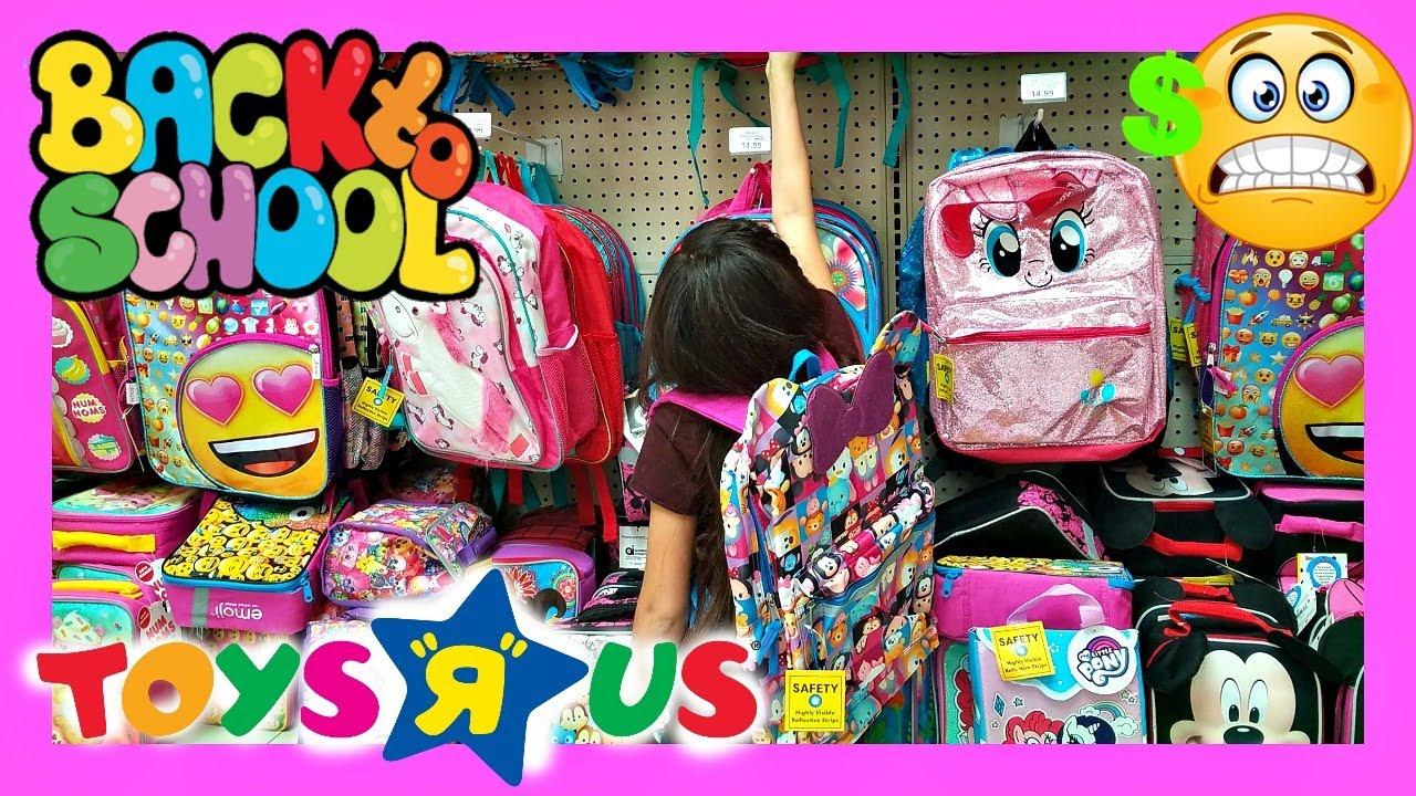 back to school shopping preschool elementary toys r us 2017 school supplies youtube. Black Bedroom Furniture Sets. Home Design Ideas