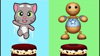 ГОВОРЯЩИЙ ТОМ ВКУСНАЯ БАШНЯ #7 Тортик Челлендж игра ТОМ и Друзья Минимульты #Мобильныеигры