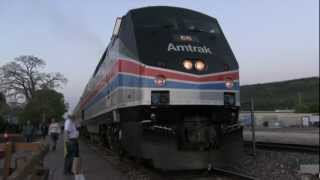 Amtrak Phase II Heritage unit P42DC 66 in Williams, AZ