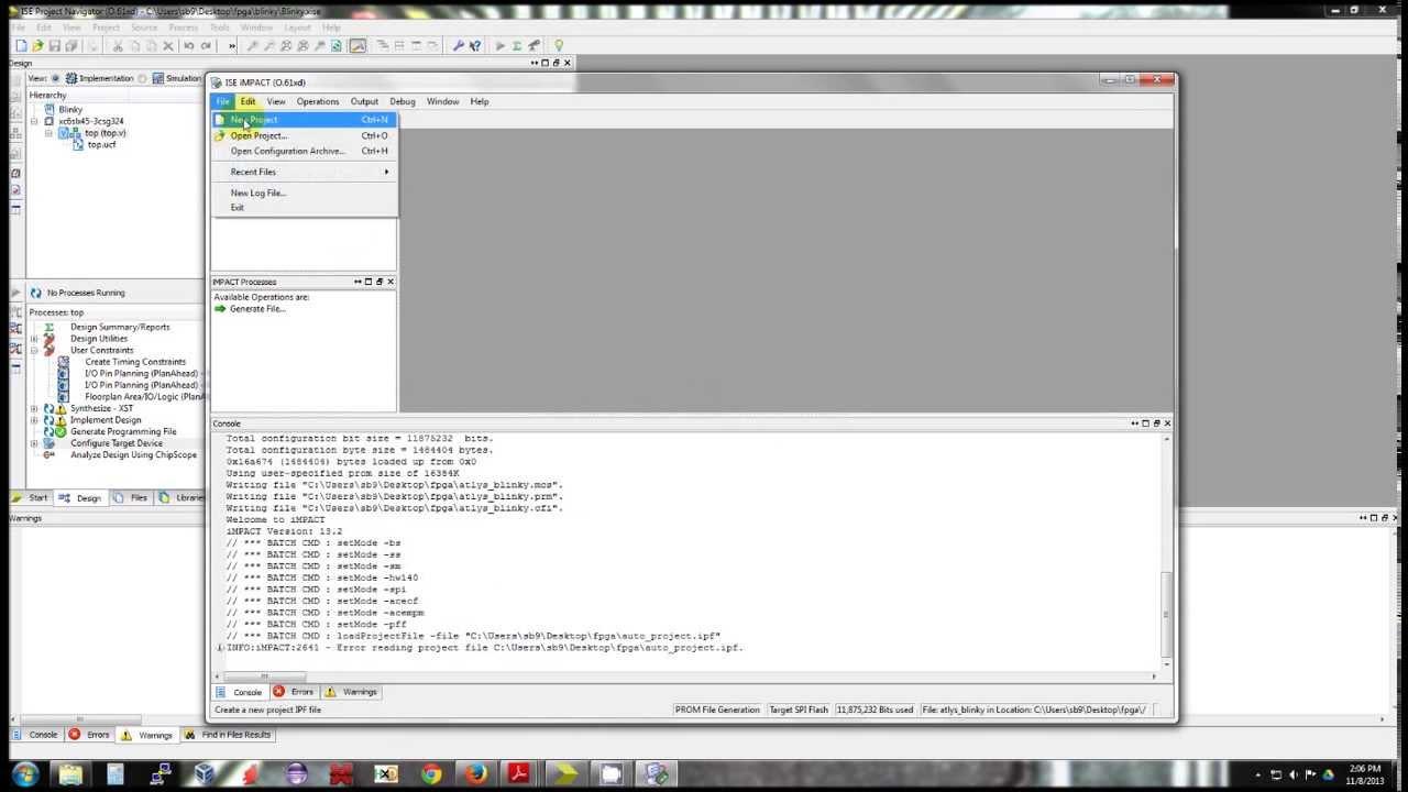 Xilinx iMPACT - Digilent Atlys board with external SPI flash
