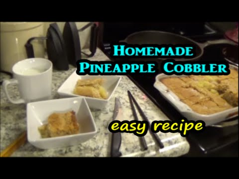 Homemade Pineapple Cobbler soul food