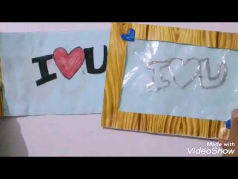 How to make Love frame / paper frame /tutorial # 13