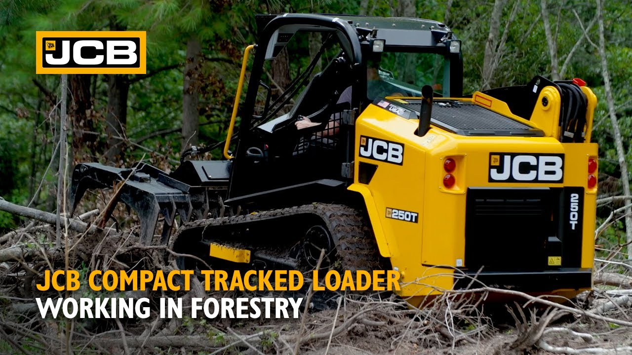 JCB Compact Tracked Loader Working in Forestry