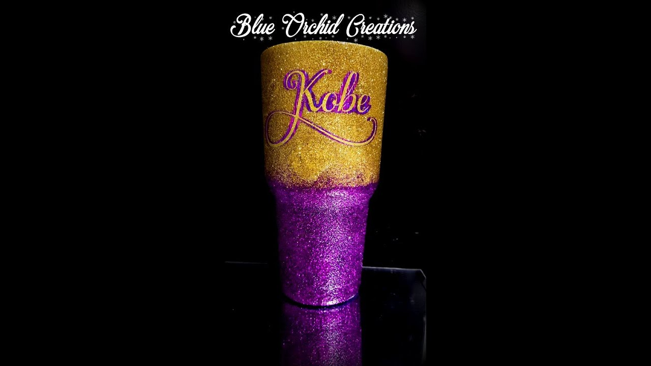 Waterslide Kobe Bryant Signature Memorial Tumbler Glitter Purple Yellow Ombre Crystalac Epoxy Free Youtube