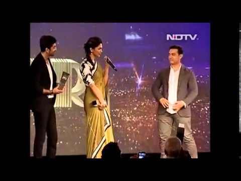 NDTV Indian of the Year - Ranbir and Deepika