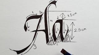 Italic Calligraphy For Beginners #1 (#Aa)
