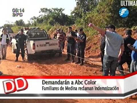 Familiares de Pablo Medina demandarán al diario ABC Color 26/11/2014