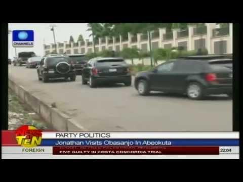 Jonathan visits Obasanjo in Abeokuta