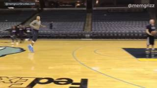 Vince Carter halfcourt shot and then with a 360 dunk  at the age of 40!