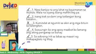 Download ETULay 2nd Quarter - Week 8 - Wednesday - MTB MLE 1-3 - Tagalog