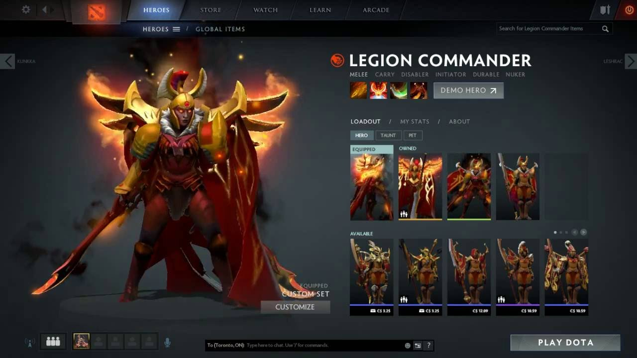 Legion Commander now is completed Arcana + Immortal - YouTube