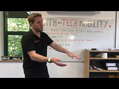 Safety when using a folding electric wheelchair with Lith-Tech Mobility