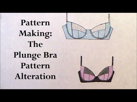 Pattern Making The Plunge Bra Pattern Altering Youtube