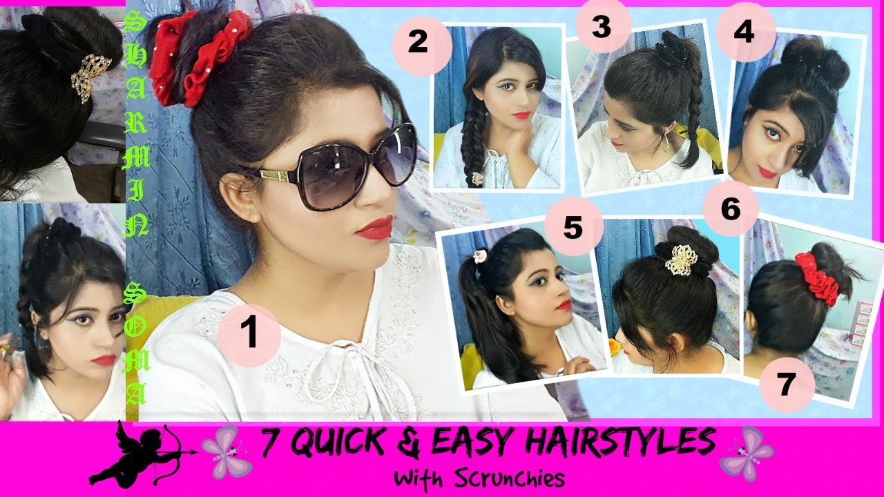 Scrunchie Hair Styles: 7 Quick And Easy Hairstyles With Scrunchies .:。 *