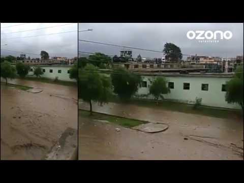 Llegada de Huaico, quebrada San Ildefonso  - Trujillo
